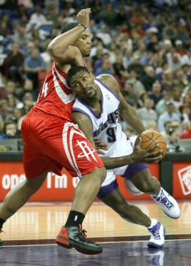 The Rockets believe that forward Ron Artest, right, will be a star alongside Yao Ming and Tracy McGrady. Photo: Steve Yeater, AP