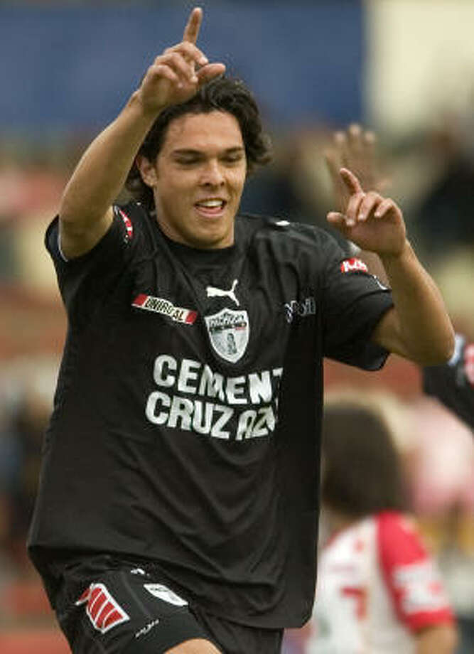 Luis Angel Landin played for Pachuca before playing for Morelia in Mexico. Photo: Guillermo Arias, AP