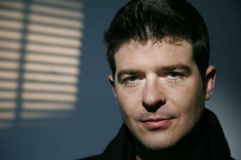 Robin Thicke recently released an album, Something Else, which digs deeper into classic soul with echoes of '60s pop. Photo: JEFF CHRISTENSEN, ASSOCIATED PRESS