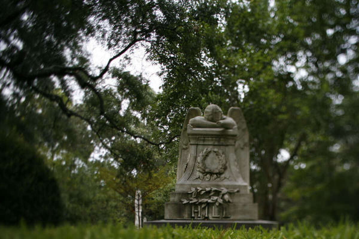 At Glenwood Cemetery, just a mile from downtown, angel statues watch over 20,000-plus burial sites.