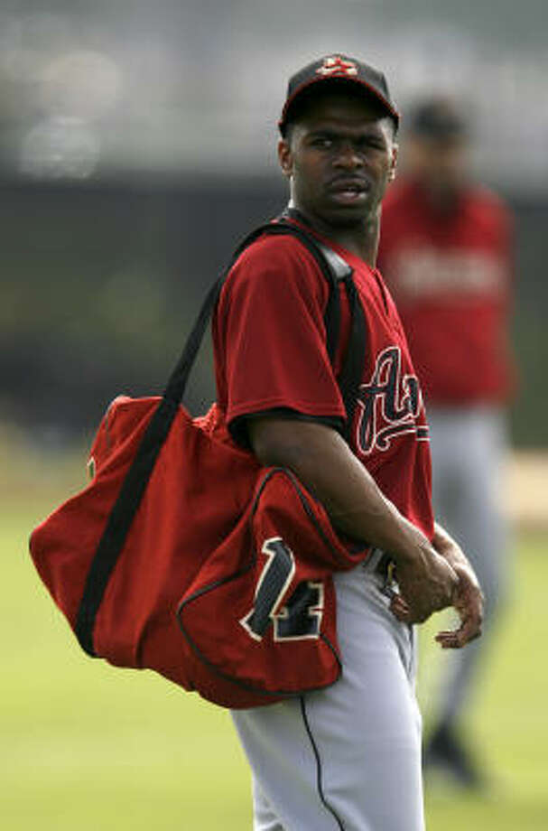 Houston Astros outfielder Michael Bourn spent the winter splitting workouts between Minute Maid Park and a training complex in Arizona. He showed up at spring training one day after pitchers and catchers. Photo: Karen Warren, Chronicle