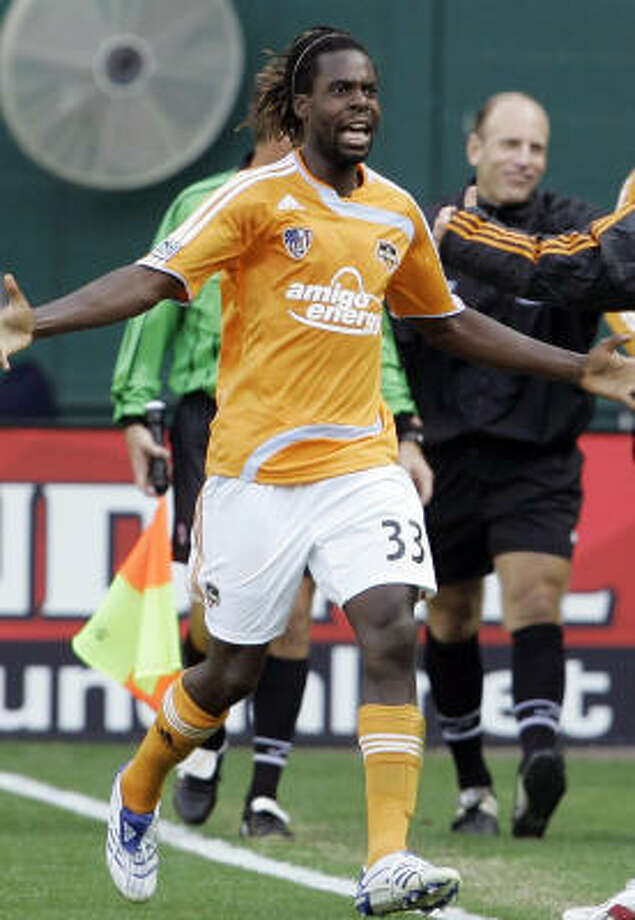 Joseph Ngwenya was a member of the Houston Dynamo long enough to win the MLS Cup championship in 2007, bue the franchise wants him back. Photo: Haraz Ghanbari, AP
