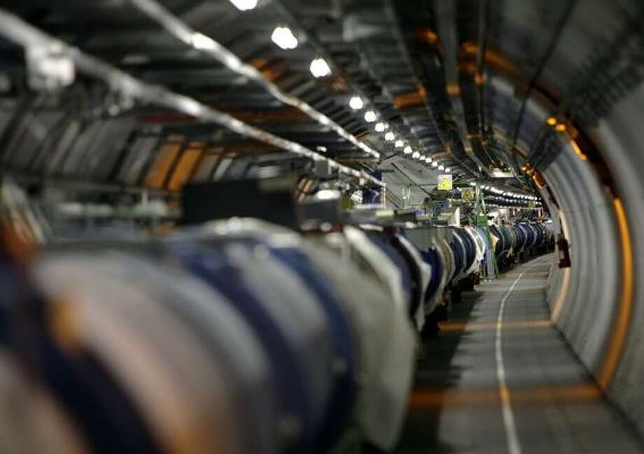 The world's most powerful atom-smasher is housed in a 17-mile-long tunnel near Geneva Switzerland. Photo: MARTIAL TREZZINI, AP FILE
