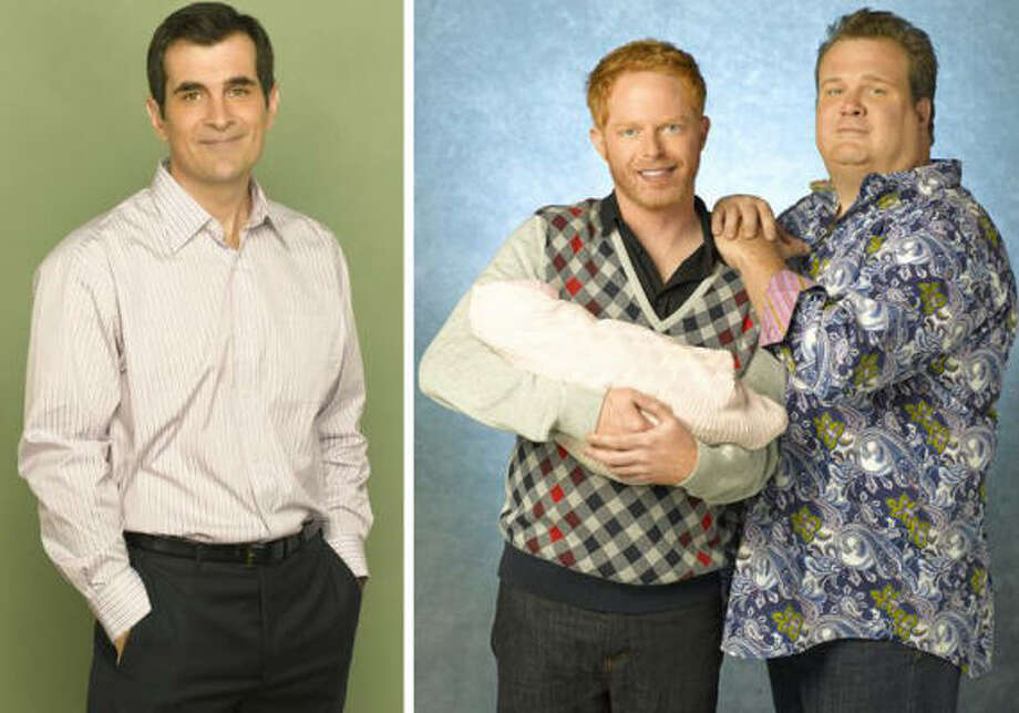 Ty Burrell, Jesse Tyler Ferguson and Eric Stonestreet, Modern Family, ABC Don't look now, Alec Baldwin, but your Emmy streak is in danger. On this season's best new sitcom, there are at least five people who may get nominated for their work, but these three are absolute, must-have nominees. Burrell's clueless dad/friend plus Ferguson and Stonestreet as the gay couple are comic gold from episode to episode. Photo: ABC