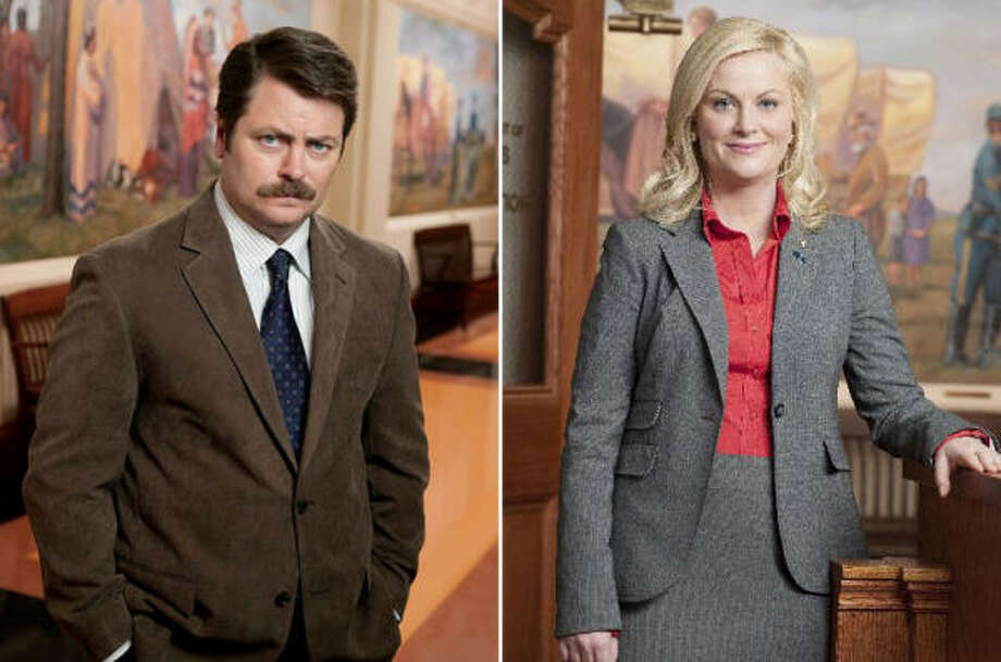 Nick Offerman, Amy Poehler, Parks and Recreation, NBC This show has elevated itself not only because the writing has improved but because those writers now trust the entire cast. That said, Poehler's manic do-gooder contrasts tremendously with Offerman's more contemplative (and coolly cynical) public servant boss. They are a joy to watch in comedy concert. Photo: NBC