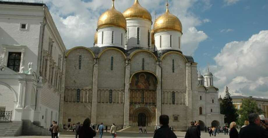 Visitors can see Cathedral Square within the Kremlin. Photo: HARRY SHATTUCK, CHRONICLE