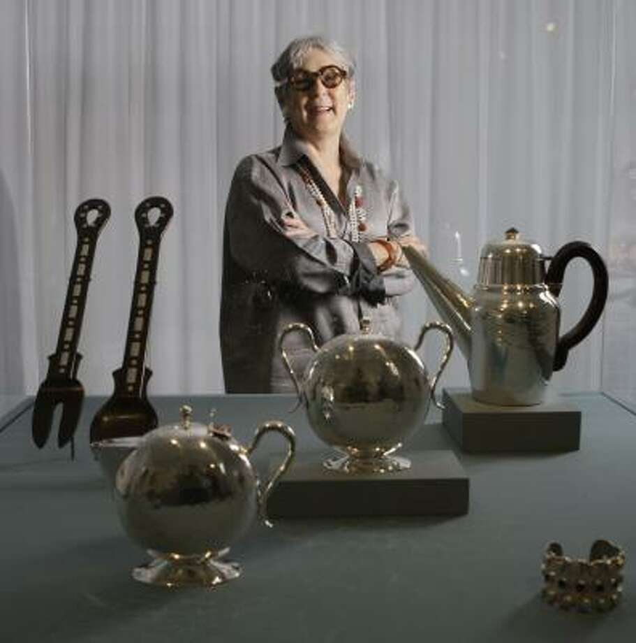 Margo Grant Walsh, one of the country's foremost interior architects, has loaned her personal collection of metalwork to the Museum of Fine Arts, Houston. Photo: MELISSA PHILLIP, CHRONICLE