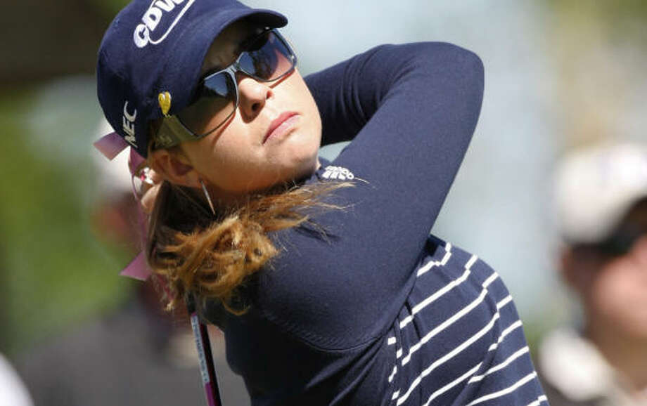 Paula Creamer has made enough birdies that another sloppy finish Friday still gave her an even-par 71. Photo: Sue Ogrocki, AP