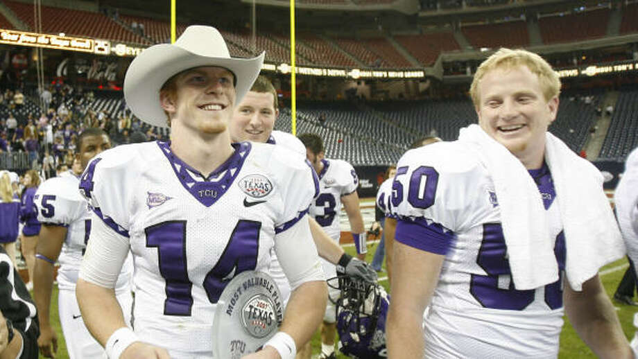 The 2007 Texas Bowl featured two Texas teams including victorious TCU, but organizers are hoping for an upgrade in conference affiliations. Photo: Nick De La Torre, Houston Chronicle