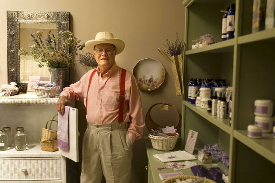 Charley Pemberton runs a small shop at his Lavender Hill farm in Blanco. Photo: Don Glentzer, For The Chronicle