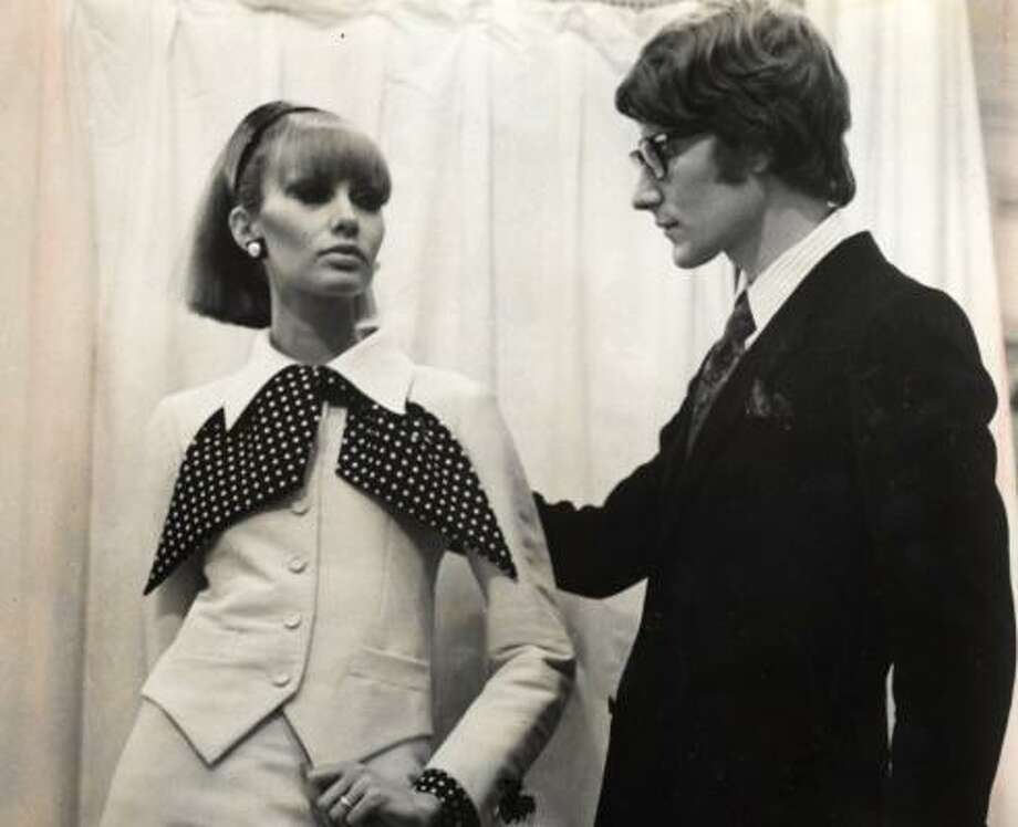 Fashion designer Yves Saint Laurent, pictured here in 1967, took women's fashion to a whole new level. He died Sunday. Photo: CHRONICLE FILE