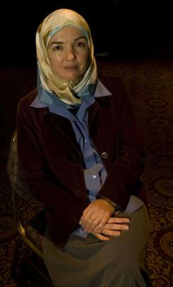 "Ingrid Mattson is the first woman and first convert elected president of the Islamic Society of North America. ""The thing to understand is that Islam treats women as spiritual equals to men,"" she says. Photo: JAMES NIELSEN, CHRONICLE"
