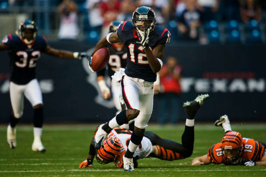 Texans wide receiver Jacoby Jones (12) has returned two punts for touchdowns this season. Photo: Smiley N. Pool, Houston Chronicle
