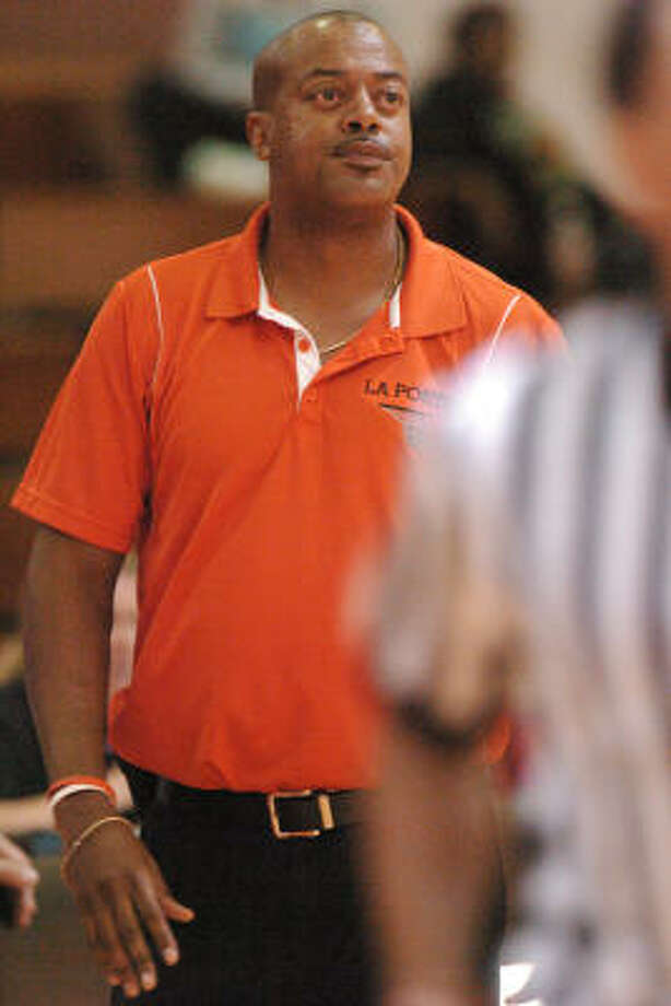 La Porte boys basketball coach Chris Mason is in San Antonio for the 76th annual THSCA convention. Photo: Ronnie Montgomery, For The Chronicle
