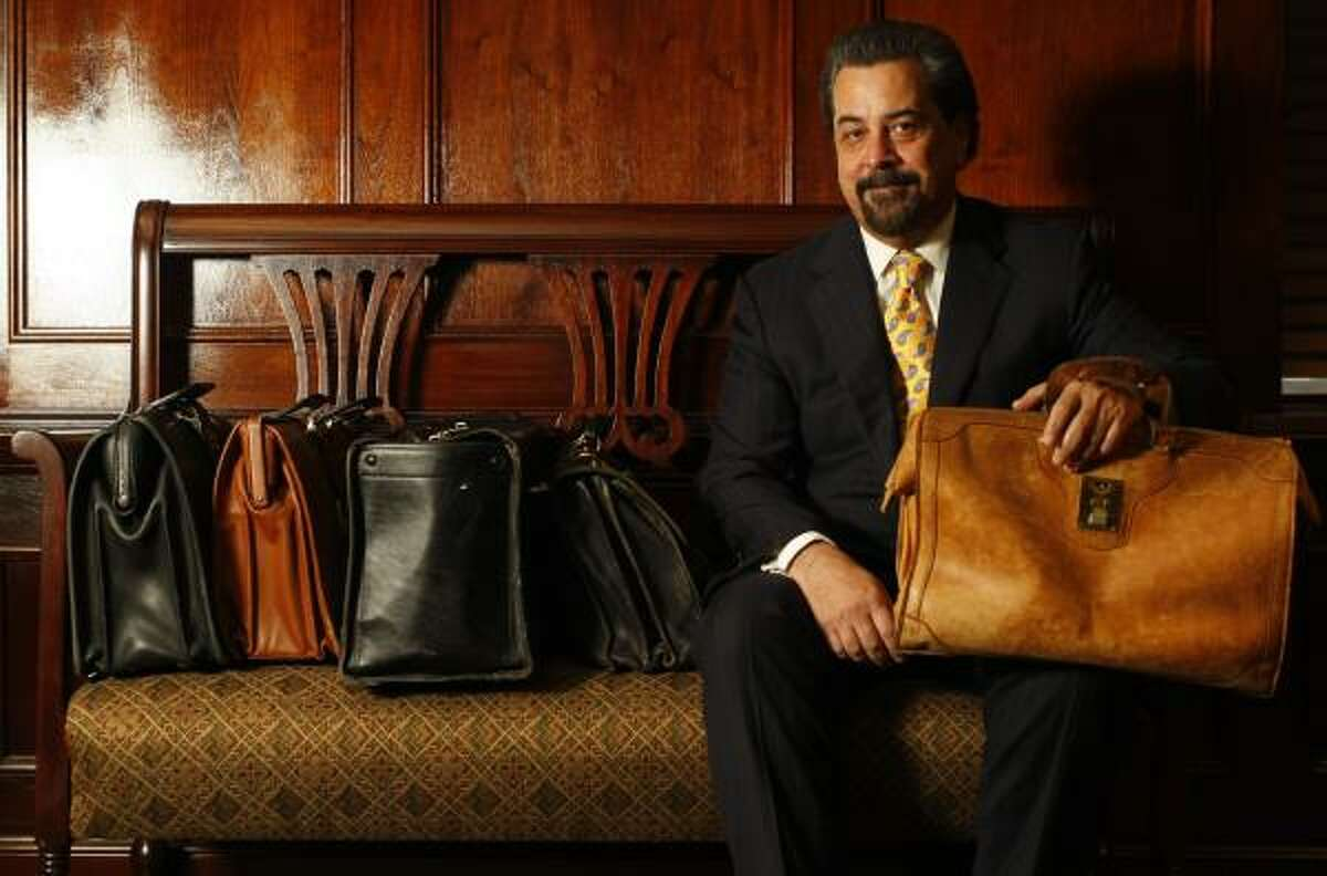 Kent Schaffer, a criminal defense lawyer, carries a battered, stained briefcase into court with him, a talisman he hopes will help him win cases.