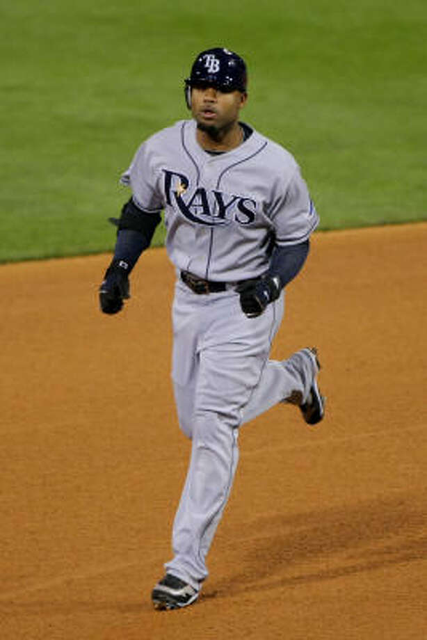 Carl Crawford, a Davis product, was one of several Rays acquired with high draft picks. Photo: Doug Pensinger, Getty Images