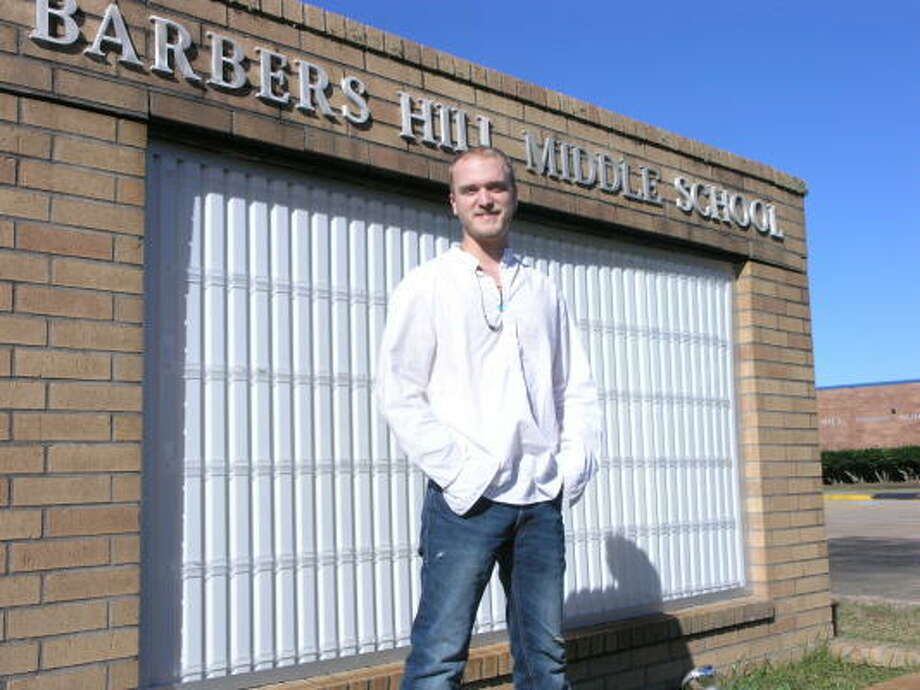 Michael Fudge, an actor, attended Barbers Hill Middle School, as a child. His mother is teaching at the school. Michael will be heading for New York to concentrate on an acting career. Photo: Fannie Williams, For The Chronicle