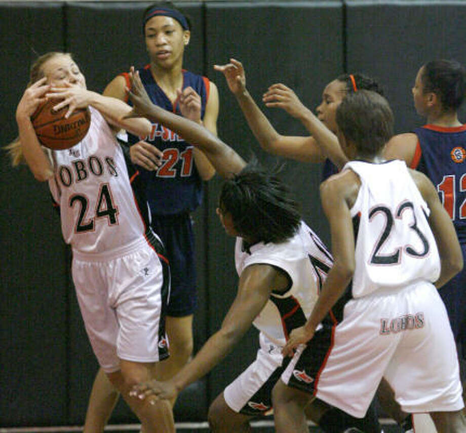 Tiffany Jaecks (24) and Langham Creek bring a 10-3 mark into Tuesday's game. Photo: Steve Campbell, Chronicle