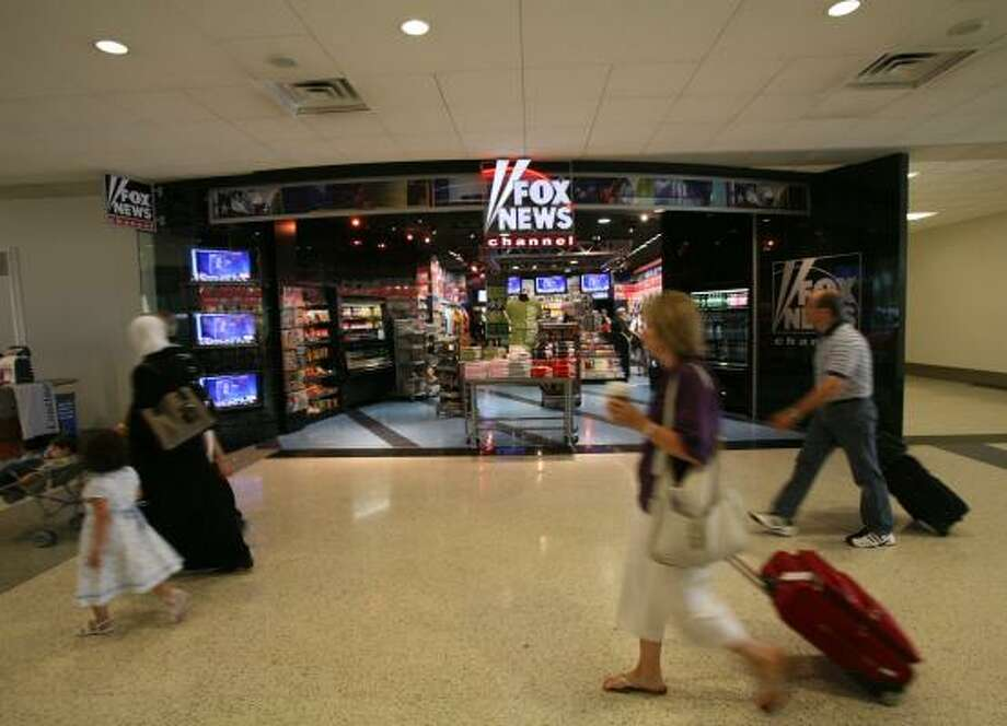The Fox News store is part of the new retail environment at Bush Intercontinental Airport. Photo: STEVE CAMPBELL, CHRONICLE