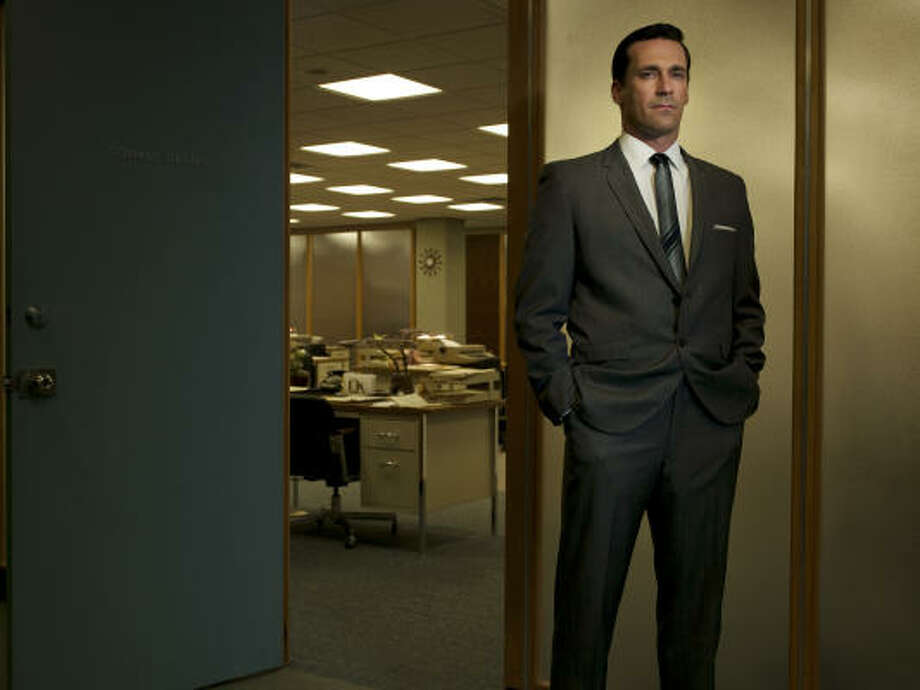 Actor John Hamm is nominated for a best-actor Emmy in AMC's Mad Men. Photo: AMC