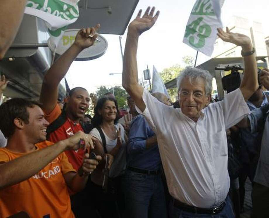 Fernando Gabeira, a 67-year-old motorcycle-riding congressman, favors legalizing marijuana and gay marriage and defends the right of prostitutes to safely ply their trade. Photo: SILVIA IZQIERDO, ASSOCIATED PRESS