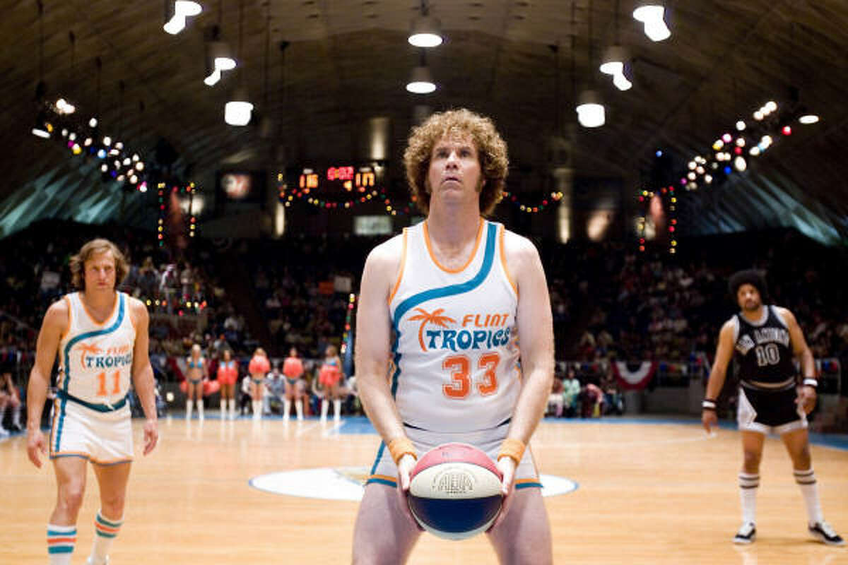 Will Ferrell, center, stars as Jackie Moon in the basketball comedy Semi-Pro.