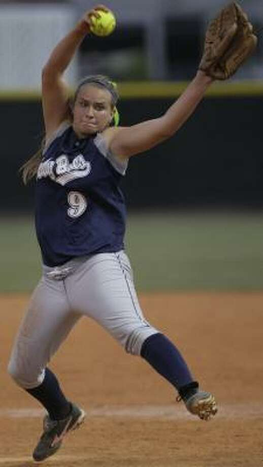 Lana Jo Hairston's shutout gives Brazoswood the upper hand in its series with Katy Taylor. Photo: MELISSA PHILLIP, CHRONICLE