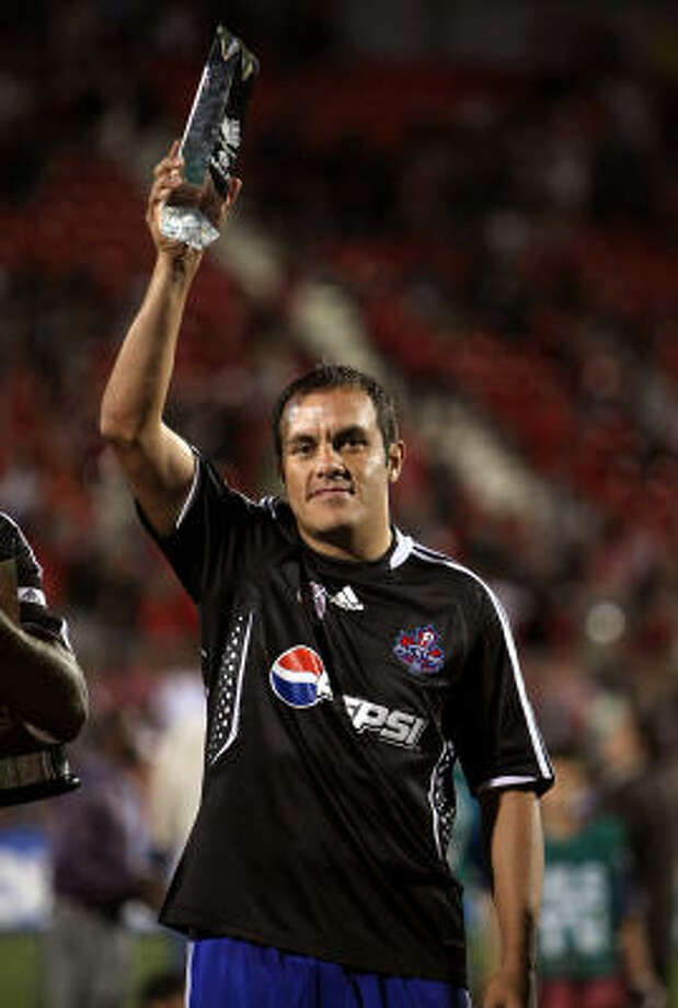 Chicago's Cuauhtemoc Blanco was named MVP of the MLS All-Star Game after scoring a goal and assisting on another. Photo: Jonathan Daniel, Getty Images