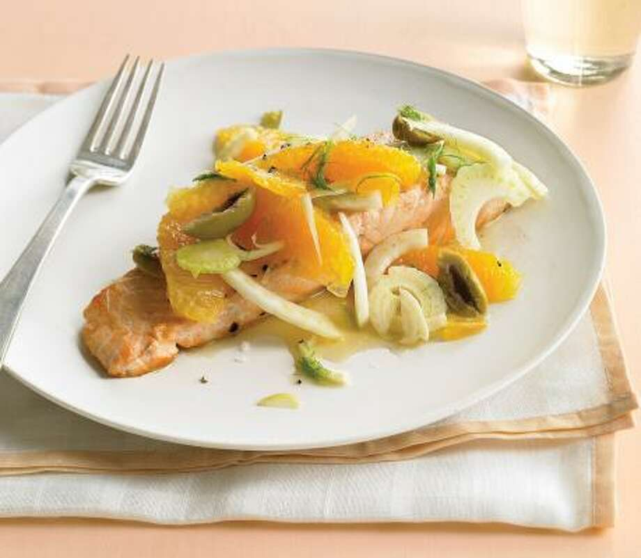 GOOD CATCH:Savor a dish of Seared Salmon With Oranges and Fennel. Photo: YUNHEE KIM, EVERYDAY FOOD