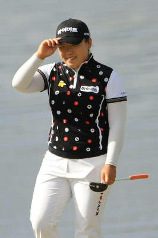 Ji-Yai Shin of South Korea celebrates after her one-shot victory at the completion of the final round of the ADT Championship. Photo: Montana Pritchard, Getty Images