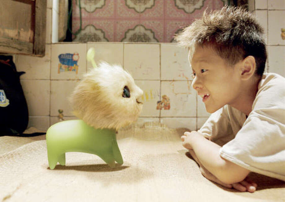 Important lessons are learned when a poor boy gets a strange new toy in CJ7. Photo: Sony Pictures Classics