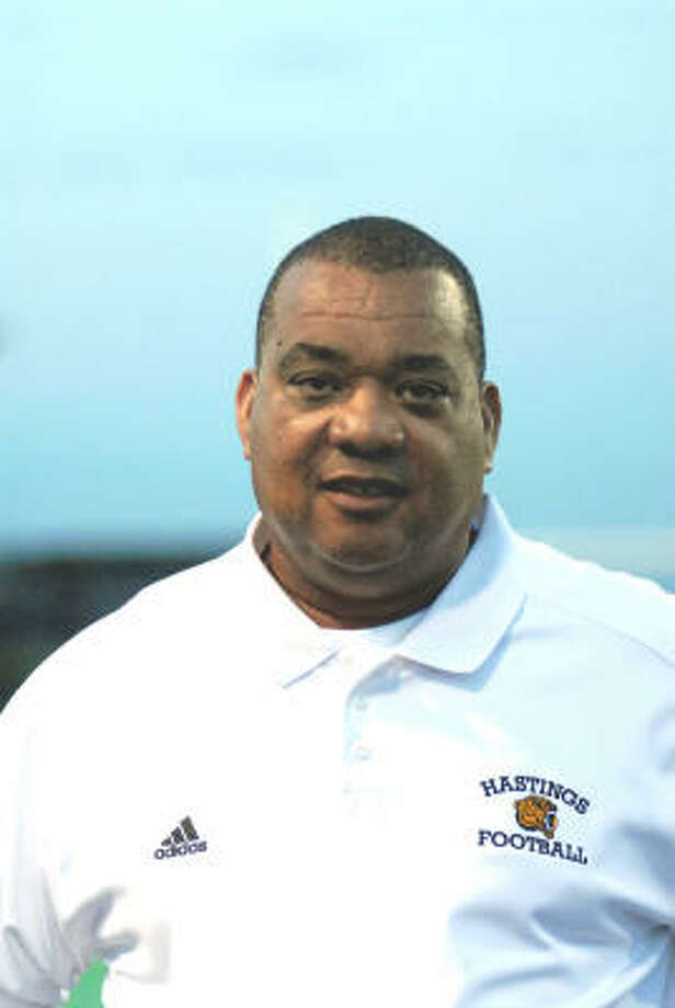 Greg Alexander is the head football coach for Hastings High School. Photo: Ernie Chan