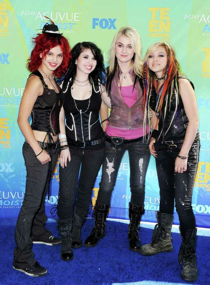 UNIVERSAL CITY, CA - AUGUST 07:  Music group Cherri Bomb arrives at the 2011 Teen Choice Awards held at the Gibson Amphitheatre on August 7, 2011 in Universal City, California. Photo: Jason Merritt, Getty Images / 2011 Getty Images