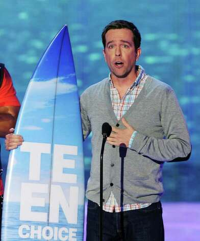 Actor Ed Helms accepts the Choice Hissy Fit award onstage during the 2011 Teen Choice Awards held at the Gibson Amphitheatre in Universal City, California. Photo: Kevin Winter, Getty Images / 2011 Getty Images