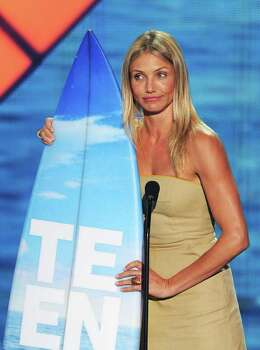 UNIVERSAL CITY, CA - AUGUST 07:  Actress Cameron Diaz accepts the Choice Comedy Movie Actress award onstage during the 2011 Teen Choice Awards held at the Gibson Amphitheatre on August 7, 2011 in Universal City, California. Photo: Kevin Winter, Getty Images / 2011 Getty Images