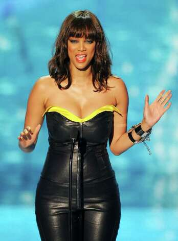 TV personality Tyra Banks onstage during the 2011 Teen Choice Awards held at the Gibson Amphitheatre in Universal City, California. Photo: Kevin Winter, Getty Images / 2011 Getty Images