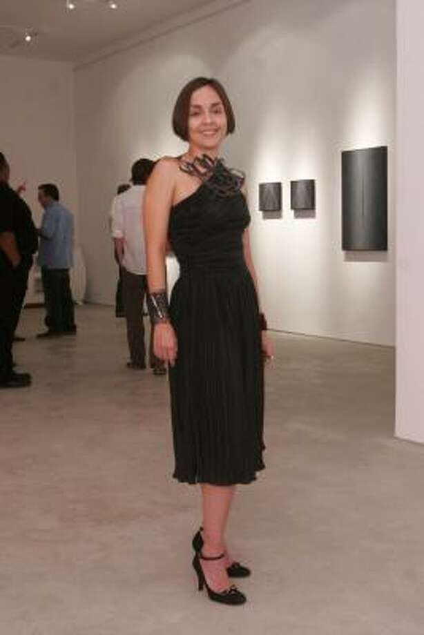 Begonia Lopez street fashion at opening of Peel Gallery Shop, 4411 Montrose. Photo: Bill Olive, For The Chronicle