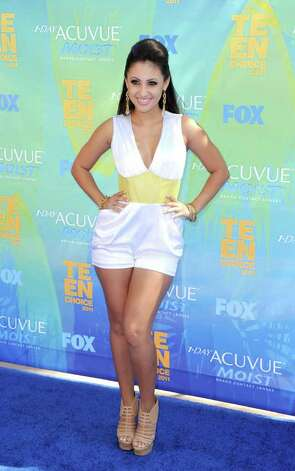 Actress Francia Raisa arrives at the 2011 Teen Choice Awards held at the Gibson Amphitheatre in Universal City, California. Photo: Jason Merritt, Getty Images / 2011 Getty Images