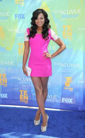 Actress Tiffany Hines arrives at the 2011 Teen Choice Awards held at the Gibson Amphitheatre in Universal City, California. Photo: Jason Merritt, Getty Images / 2011 Getty Images