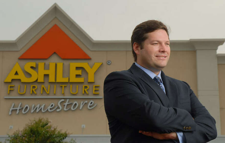 CEO Robert Finger stands outside the Ashley Home Store on Fairmont Parkway in Pasadena. Photo: Dave Rossman, For The Chronicle