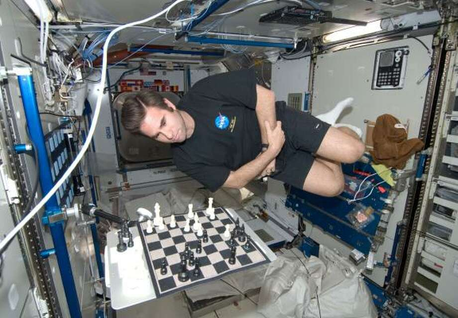 American astronaut Greg Chamitoff set up the match as a way of stimulating students' interest in math, science and engineering. Photo: NASA HANDOUT