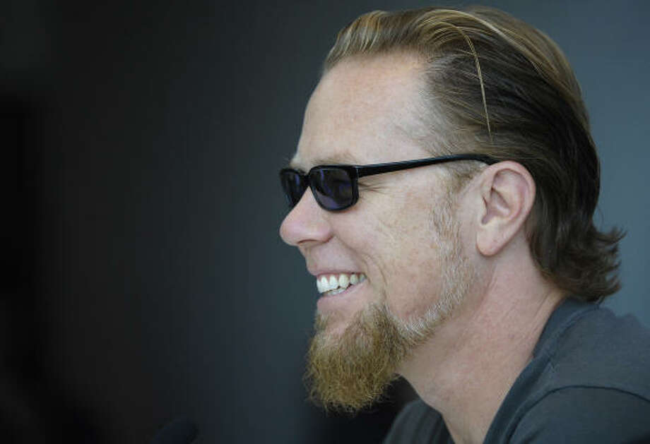 Metallica singer-guitarist James Hetfield says the band is now addicted to a healthy lifestyle. Photo: MICHAEL GOTTSCHALK, AFP/GETTY IMAGES