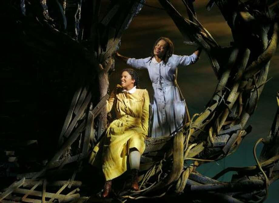 Houston's Renee Goldberry, left, and LaChanze starred in Broadway's The Color Purple. Photo: PAUL KOLNIK