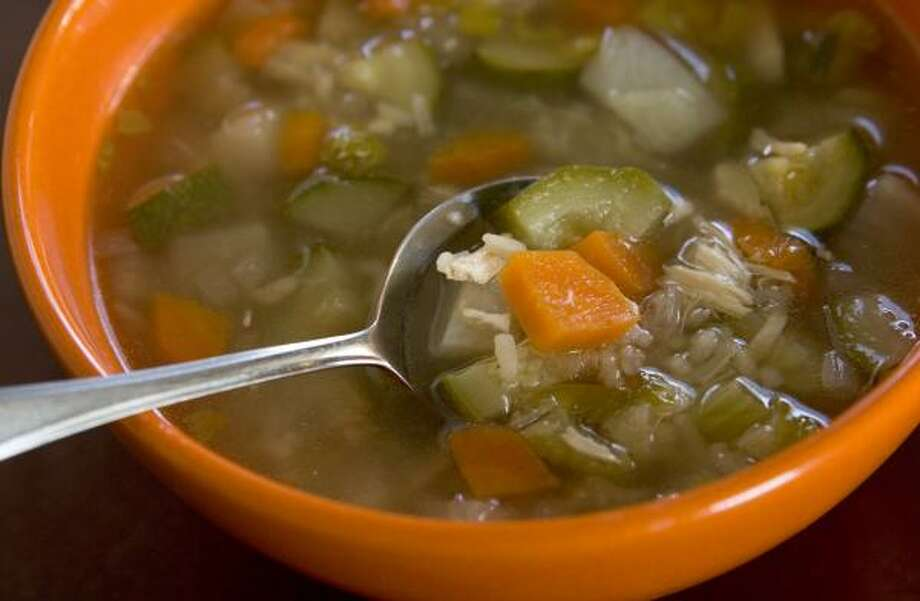 DELICIOUS COMBINATION:Turnips, zucchini, ginger and cinnamon are used in this soothing Syrian Chicken soup. Photo: Brett Coomer, Chronicle