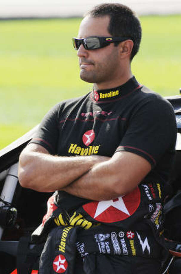 Juan Pablo Montoya initially won the pole for Sunday's race, but it was taken away from him because of a technical violation. Photo: Reed Hoffmann, AP