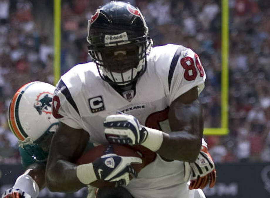 Wide receiver Andre Johnson has been a target on several of the Texans' big plays. Photo: Brett Coomer, Chronicle