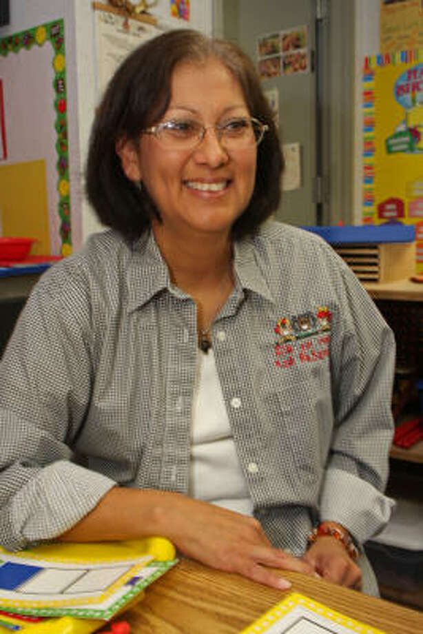 Maria Garcia received on Oct. 16 the Teacher of the Year award from the Texas Association for the Education of Young Children. Photo: Suzanne Rehak:, For The Chronicle