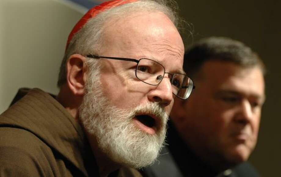 "Cardinal Sean P. O'Malley says he ""was anxious to dispel the idea that the Holy Father was avoiding coming to Boston because of the sex-abuse crisis."" Photo: JOSH REYNOLDS, ASSOCIATED PRESS"