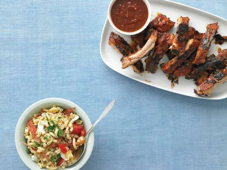 EJ's Simple Ribs and Rib Sauce go perfectly with Emeril's Macaroni Salad. Photo: MARCUS NILSSON:, EVERYDAY FOOD