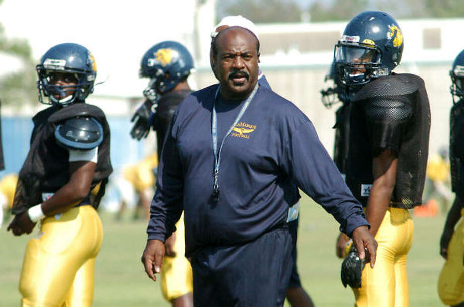 Darrell Jordan's first season as La Marque coach is proving to be much harder than expected. Photo: Kirk Sides, For The Chronicle